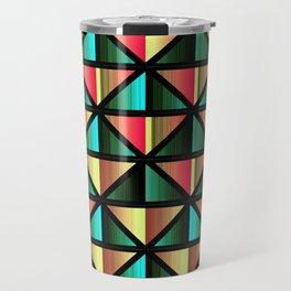 Emerald triangles Travel Mug