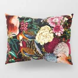 Floral and Animals pattern II Pillow Sham