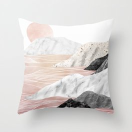 Marble Landscape I Throw Pillow