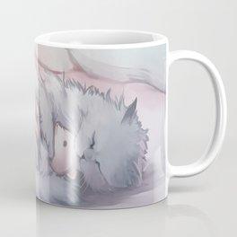 Kitty Sleeping with Bear Friend Coffee Mug