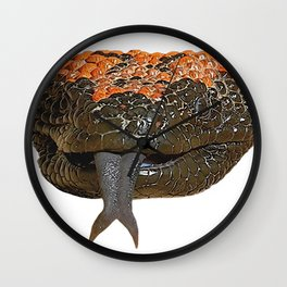 Gila Monster Venomous Lizard Reptile Sneaky Agent Orange Dots Wall Clock