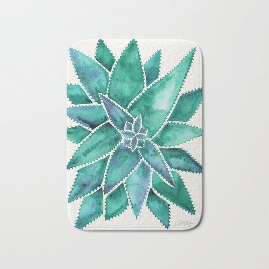 Aloe Vera – Turquoise Palette Bath Mat