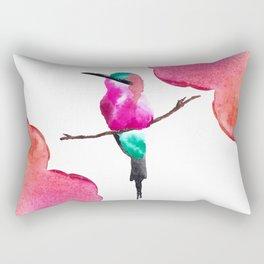 Carmine Bee eater Rectangular Pillow