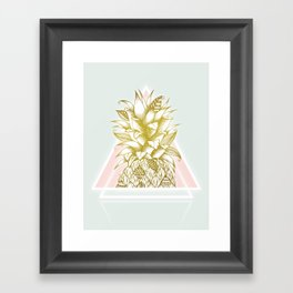 Golden Pineapple Framed Art Print