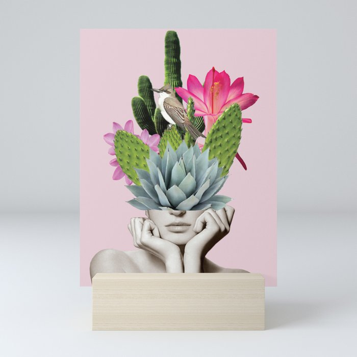 Cactus Lady Mini Art Print