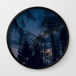 Night Forrest Wall Clock