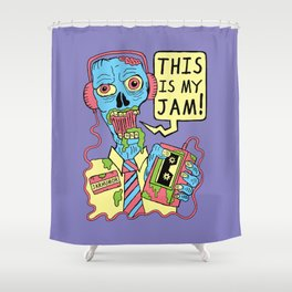 This Is My Jam (Zombie) Shower Curtain
