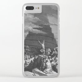 Gustave Dore - Bible Tour de Babel Clear iPhone Case