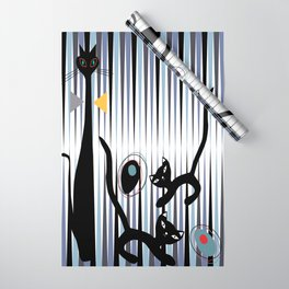 Mid-Century Modern Art - Cat & Kittens Wrapping Paper