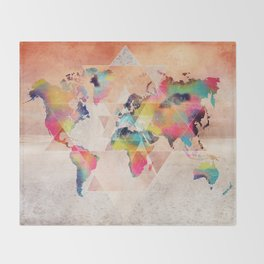 world map 33 sacred Throw Blanket