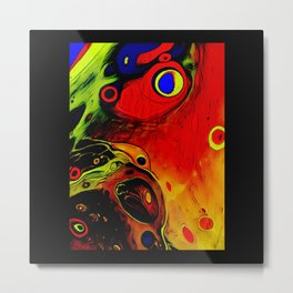 Alien Embryo Space Worlds Metal Print