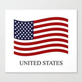 United States flag Canvas Print