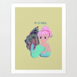 Chibi Mermaid #1 Art Print