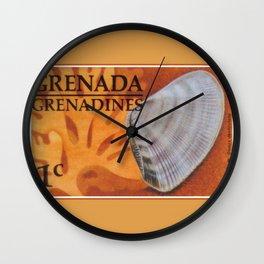 Wedge Clam Donax Denticulata Wall Clock