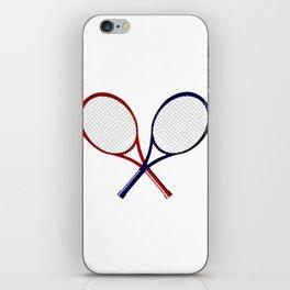 Crossed Rackets iPhone Skin