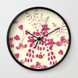 Watercolor floral garden  II Wall Clock