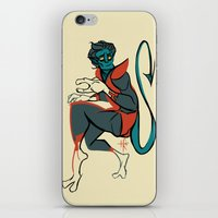 nightcrawler iPhone & iPod Skins featuring Nightcrawler by gofishblues