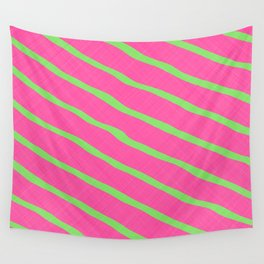 Neon Stripes 1A Wall Tapestry