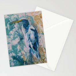 Blue Egret 3 Stationery Cards