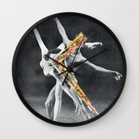 ballet Wall Clocks featuring Ballet by Ben Giles