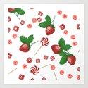 Candy lollipops Strawberry sweets by fuzzyfox85