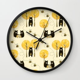Bear Necessities Wall Clock