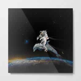 Space Riding Metal Print