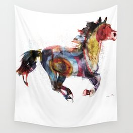 Horse (Running Happiness Detail) Wall Tapestry