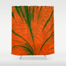 Dotted Power,orange Shower Curtain