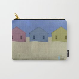 Beach Cottages, colorful houses, coastal, row houses Carry-All Pouch