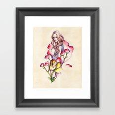 Birth Flower IV - Sweet Pea Framed Art Print