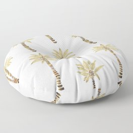 Mediterranean Palm Trees – Gold Palette Floor Pillow