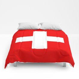 Flag of Switzerland 2x3 scale Comforters