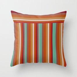 70s Retro Stripes Pattern Throw Pillow