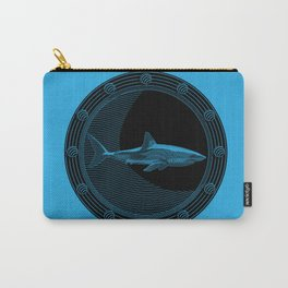 Engraved Shark Carry-All Pouch