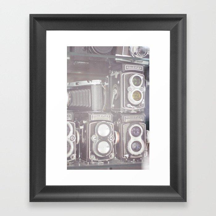 Film Cameras Framed Art Print by natsukilove   Society6