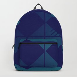 Blue,Diamond Shapes,Square Backpack
