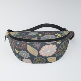 Multi-Colored Pods & Flowers Fanny Pack