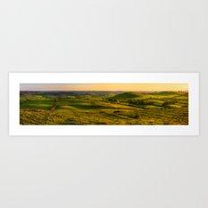 Green hills of Ireland (RR229) Art Print