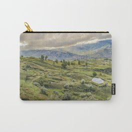 Andean Rural Scene at Quilotoa Town, Ecuador Carry-All Pouch
