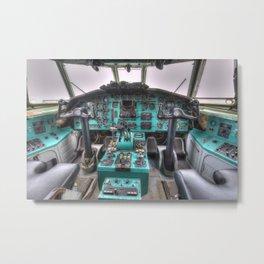 Tupolev TU-154 Jet Cockpit Metal Print