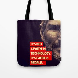 Office SteveJobs Quote Tote Bag