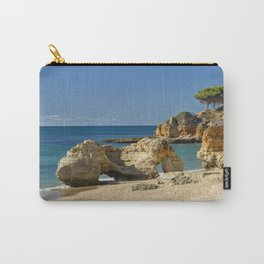 rock formation on Olhos d'Agua beach, Portugal Carry-All Pouch