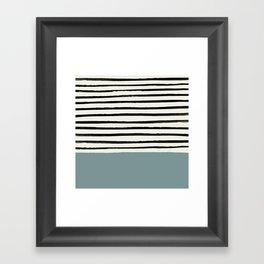 River Stone & Stripes Framed Art Print