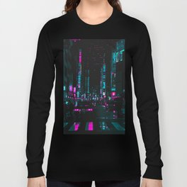 cyberpunk lost street Long Sleeve T-shirt