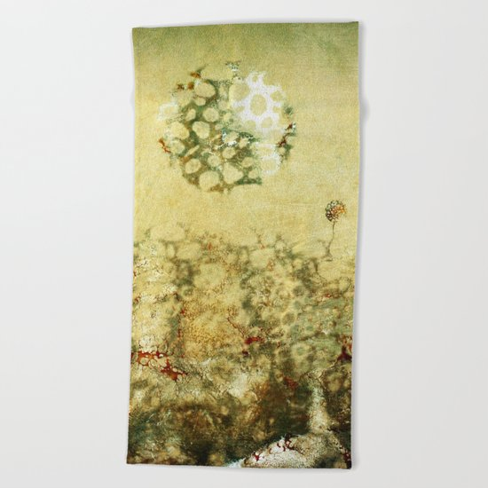 Moonflowers Beach Towel