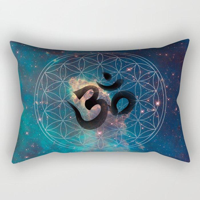 Om & Flower of Life Rectangular Pillow