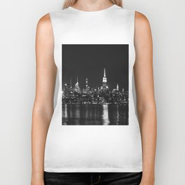 new york skyline Biker Tank