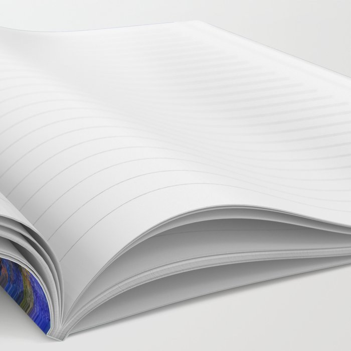 Blue Spruce Island Abstract Art Notebook