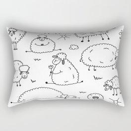 Funny sheeps Rectangular Pillow